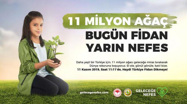 Ağaçlandırma Kampanyasına İzmir Gazeteciler Cemiyeti'nden Destek