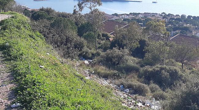 Çeşme'de Çöp Tepeleri Oluşuyor