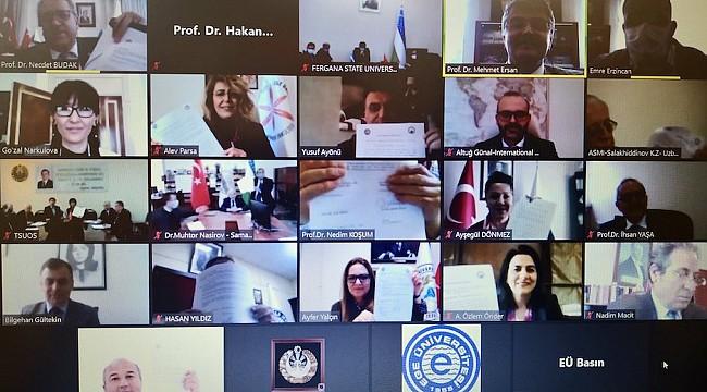 EÜ İle Özbekistan'daki 7 Üniversite İle Akademik İş Birliği