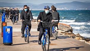 İzmir'in bisikletli ulaşım kabiliyetleri artıyor
