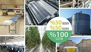 Tarımsal yatırımların yüzde 50'si Bakanlıktan