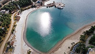 Bodrum'da plaja mermer ve kuvars tozu döken işletmeye ceza
